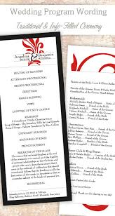 traditional wedding programs wedding program wording templates wedding programs