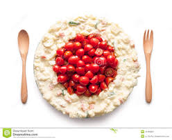 flag of japan made of tomato and salad stock photo image 44169952