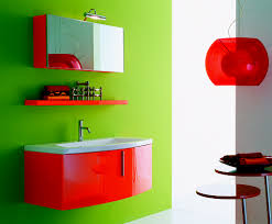 teenager bathroom with red bathroom vanities luxury bathroom design