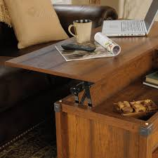 coffee tables attractive sauder carson forge lift top coffee