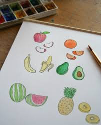 fruits of your labor how to draw fruit