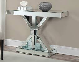 mirrored x shapped console table coaster 950191
