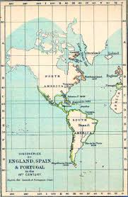 The Americas Map Map Of The Americas 16th Century Discoveries