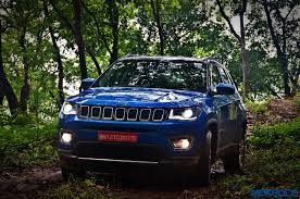 jeep compass limited blue jeep compass india review price specs mileage image gallery