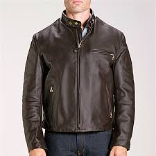 brown leather motorcycle jacket schott 26