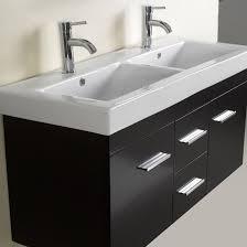 Dual Bathroom Vanity by Virtu Usa Opal 48 In Wall Mount Espresso Double Bathroom Vanity