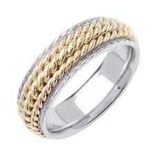 wedding ring depot 14k two tone gold rope braid band 7mm 3002981 shop at wedding