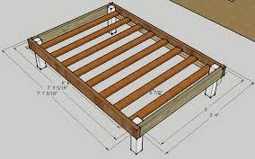 Bed Frame Plans Simple Bed Frame By Luckysawdust Lumberjocks