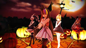 happy halloween artwork mmd happy halloween 갸라코 네오 린 외 4인 galaco neo rin 4