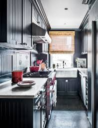 kitchen color schemes with black cabinets how black became the kitchen s it color architectural digest
