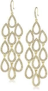 chandelier earrings abs by allen schwartz pave gold tone pave