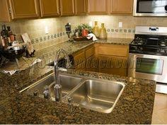 giallo fiorito granite with oak cabinets capinets sandstone kitchen pinterest products and