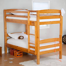Hardwood Bunk Bed Furniture Simple Classic Finish Wooden Bunk Bed For