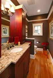Red Powder Room Bathrooms Carrigan Curtis Design Build