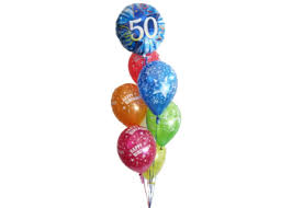 50th birthday balloon bouquets 50th birthday balloons helium balloons perth 50th party