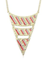 chain necklace metal images 2018 triangle chain necklace red in necklaces online store best jpg