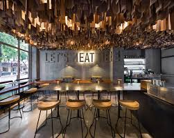minimal interiors a new u0026 modern burger restaurant shade burger by yod design studio