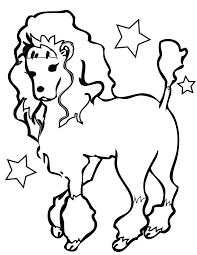 poodle free coloring pages on art coloring pages