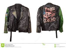leather underground punk stylish jacket with rivets and with punks