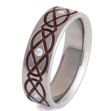 titanium celtic wedding bands titanium celtic wedding rings ck43red titanium rings studio