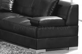 black full leather modern sectional sofa 3334 st petersburg