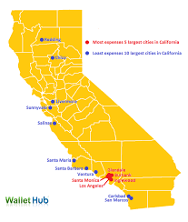 map of cities in california 2014 california car insurance landscape report wallethub