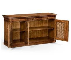 walnut sideboard with lattice doors