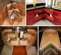 Corner Drawers  Solutions For Awkward Kitchen Spaces - Kitchen cabinets corner drawers