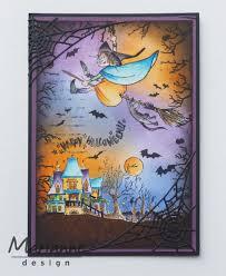 halloween stamp ht1626 marianne design hetty u0027s happy halloween clear stamp set