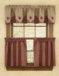 Lined Swag Curtains Park Designs Sturbridge Kitchen Decorating Theme