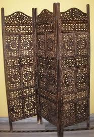 black 4 panel acrylic mixed solid wood room screen divider