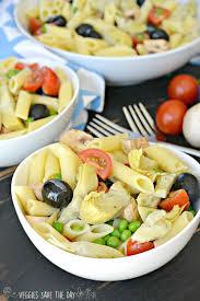 marinated artichoke hearts pasta salad veggies save the day