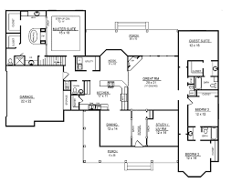 4 bedroom 1 story house plans 4 room house plans home plans homepw26051 2 974 square 4