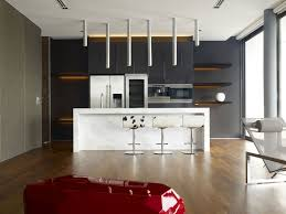 Aluminium Kitchen Designs Kitchen Bar Stool Ideas Plywood Laminated Wooden Stained Staircase