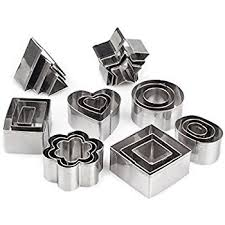 home value 12pc metal cookie cutters 3 shape 3