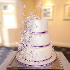 butterfly wedding cake cadbury purple butterfly and flower wedding cake cakes