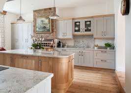 farmhouse style kitchen with oak cabinets oak cabinets kitchen farmhouse with shaker style