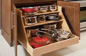 kitchen storage ideas for pots and pans simple kitchen ideas with wooden base roll out pots pans organizer