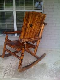 Wagon Wheel Rocking Chair Furniture Rustic Outdoor Furniture Classic Hand Made Rustic