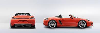 Porsche Boxster 2017 - porsche the new 718 boxster s technical specs porsche usa