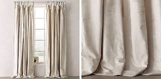 Tie Top Curtains Luster Velvet Tie Top Drapery Collection Rh