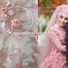 wedding dress material embroidery designs flower lace tulle lace fabric evening