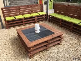 canapé exterieur en palette comment faire un salon de jardin en palettes les créations de circée