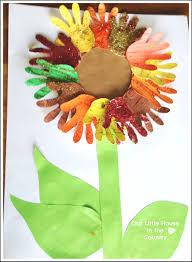 sunflower handprint art 2 u2013 autumn fall art activities for kids