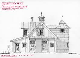 north elevation of a hand drawn pole barn design study i did for a