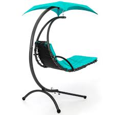 Swing Lounge Chair Best Choice Products Hanging Chaise Lounger Chair Arc Stand Air