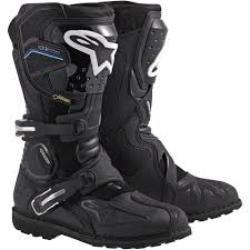 black moto boots alpinestars toucan gore tex boots by atomic moto