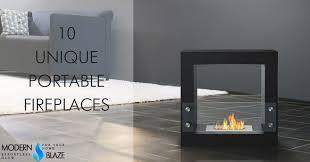 portable fireplace 10 unique portable fireplaces modern blaze