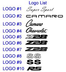 camaro logos emblempros com gm licensed and custom vehicle emblems 1993