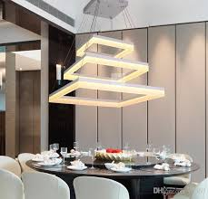 dining room modern led rectangle pendant lamp led chandeliers